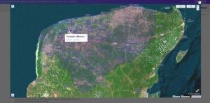 mapa de satélite de Yucatan